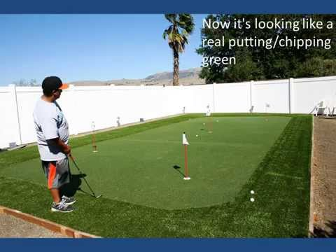 DIY Backyard Putting And Chipping Green