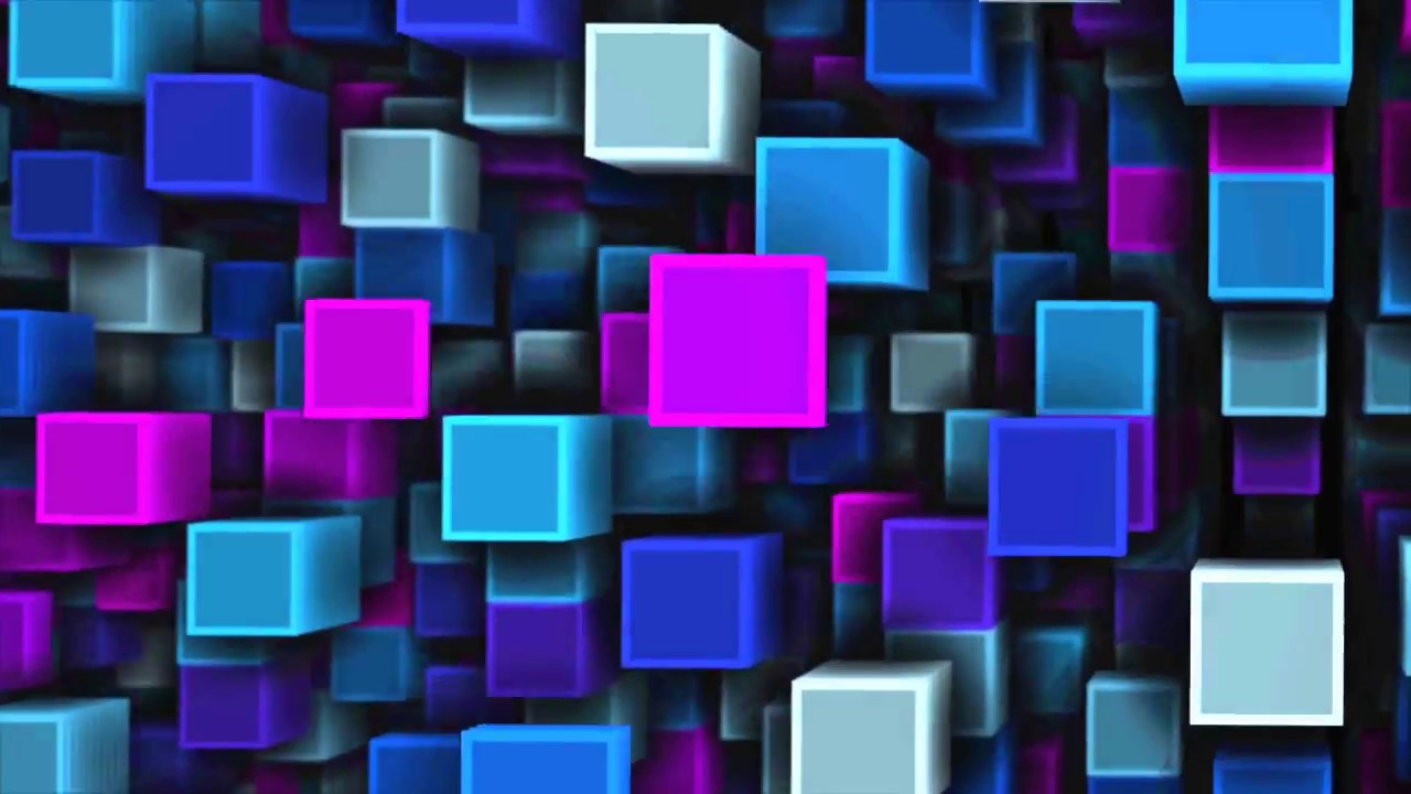 3d Animated Wallpaper Christmas Free Cubes Background Animation Loop Vj Visuals Footage