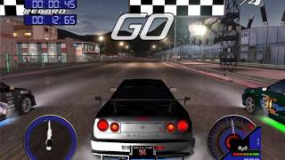 Juiced 1 - Drag Race - Nissan Skyline R34 Gameplay