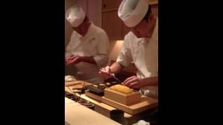 Sushi chef@ Sushi Yoshitake 3 stars Michelin, Tokyo