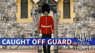 A Royal Guard Takes In The Royal Wedding