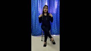 Dr. Neha Singh Roda Demonstrating stretching Exercises for Neck to Hands