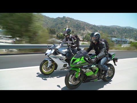 Sportbike vs  Naked Bike: ZX-6R vs  YZF-R6 & Z900 vs  FZ-09 — ON TWO