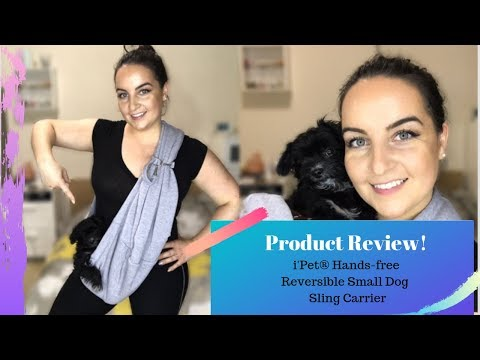 iPet Hands Free Reversible Small Dog Sling Carrier Review