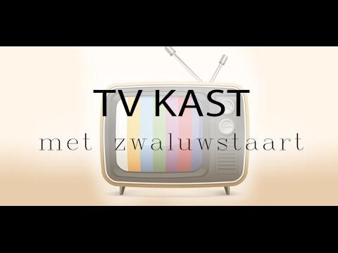 Kast Met Tv.Blok 5 5 Tv Kast Met Zwaluwstaart In Ironcad Youtube