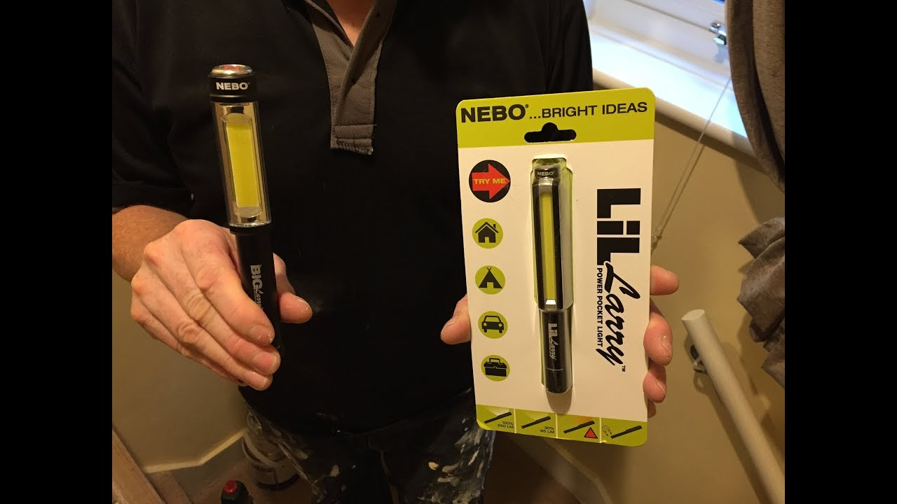 Powerful Pocket Light NEBO LIL LARRY POWER POCKET COB LED WORK LIGHT