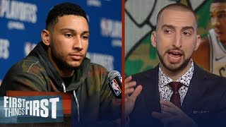 Nick Wright on why Boston dominating 76ers reveals Ben Simmons' weakness | NBA | FIRST THINGS FIRST