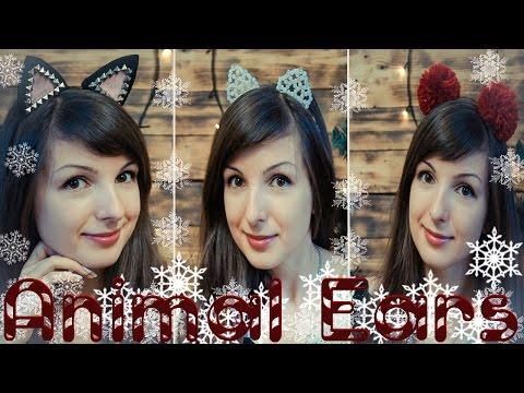 Украшения для волос / DIY ANIMAL EARS/ Кошачьи ушки
