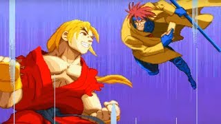 X-Men vs. Street Fighter (Saturn) Playthrough - NintendoComplete