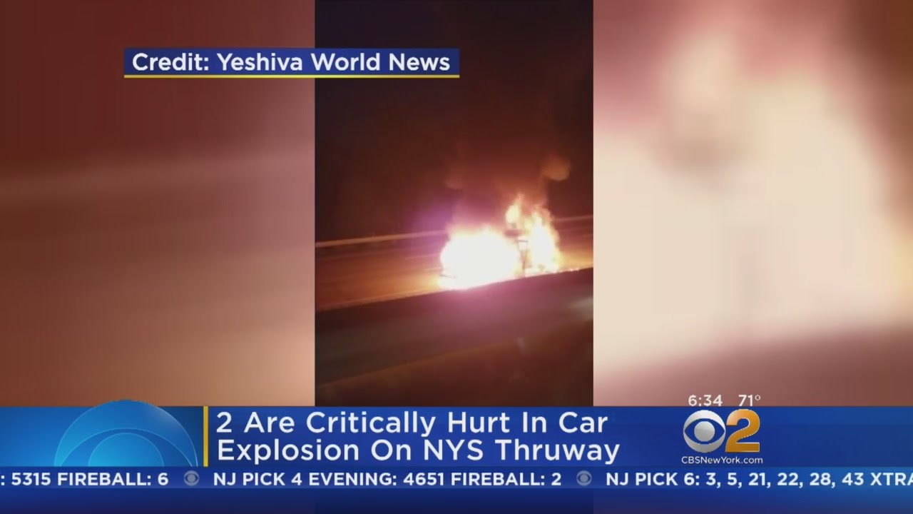 2 Critically Hurt In NYS Thruway Car Fire - YouTube