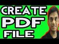 How to Create a PDF file From Word/image | Hindi | Helping abhi
