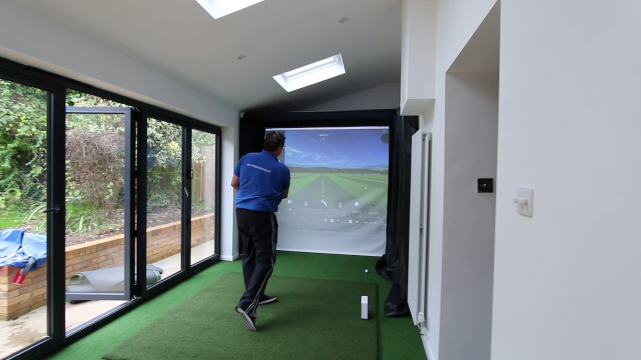 Home Golf Simulator Enclosure with