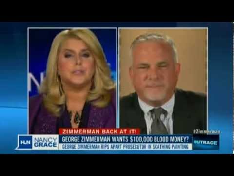 HLN Nancy Grace Discusses Zimmerman's Painting Copyright Misappropriation of AP Photo