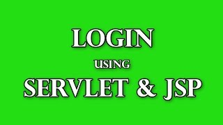 Connexion à l'aide de servlets et de JSP Partie pratique 1