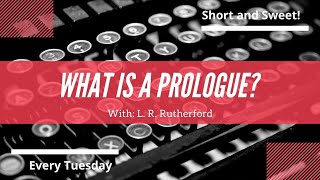 What is a prologue? How is it used in literature?