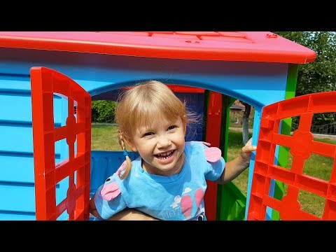 Alena plays with friends, toys and playhouse Kids fun play time by Chiko TV