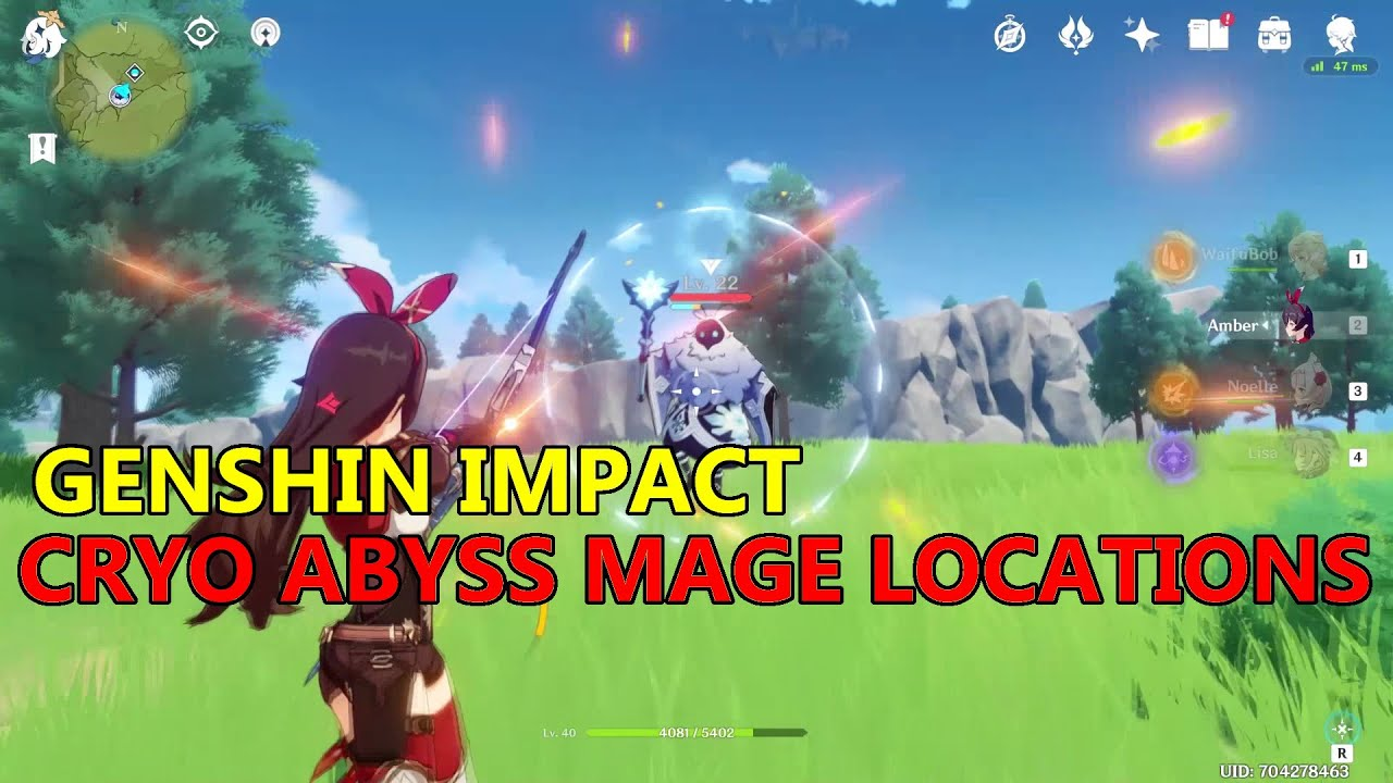 Genshin Impact Cryo Abyss Mage Locations Youtube