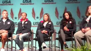 Allyson Felix, Wallace Spearmon, Lashinda Demus, Trey Hardee, More 2012 Olympic Media Summit