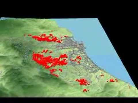 3D Animation of San Diego 2007 Wildfire   YouTube 3D Animation of San Diego 2007 Wildfire