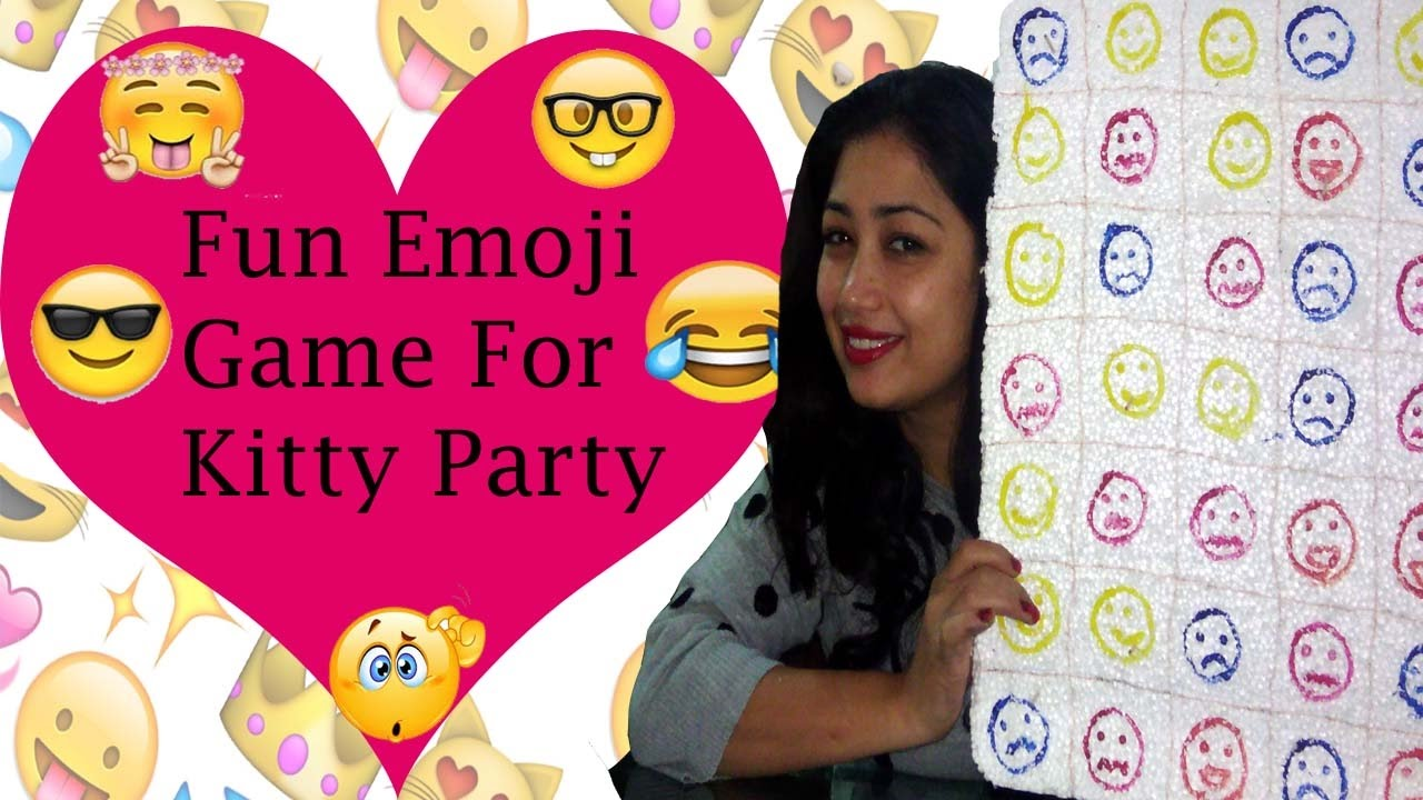 Fun Emoji Game For Kitty Party Keep Smiling