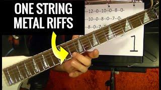 ONE STRING METAL RIFFS Guitar Lesson