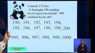 2-синф. Математика дарси. 13.04.2020 й.