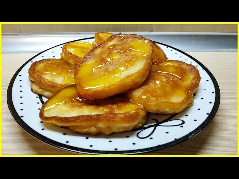 Оладьи на кефире//Рецепт вкусных и пышных оладьев