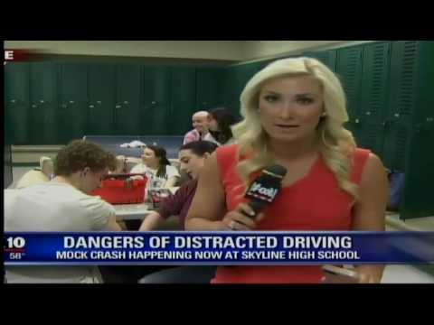 News Coverage Skyline Mock Crash