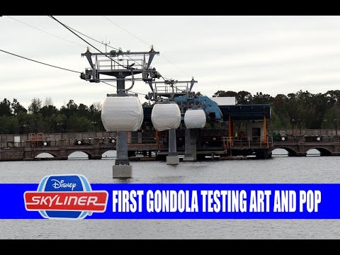 Disney Skyliner First Gondola Testing Pop Century and Art of Animation