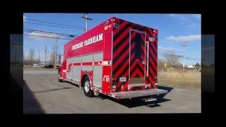 L'unité d'urgence des pompiers de Farnham.