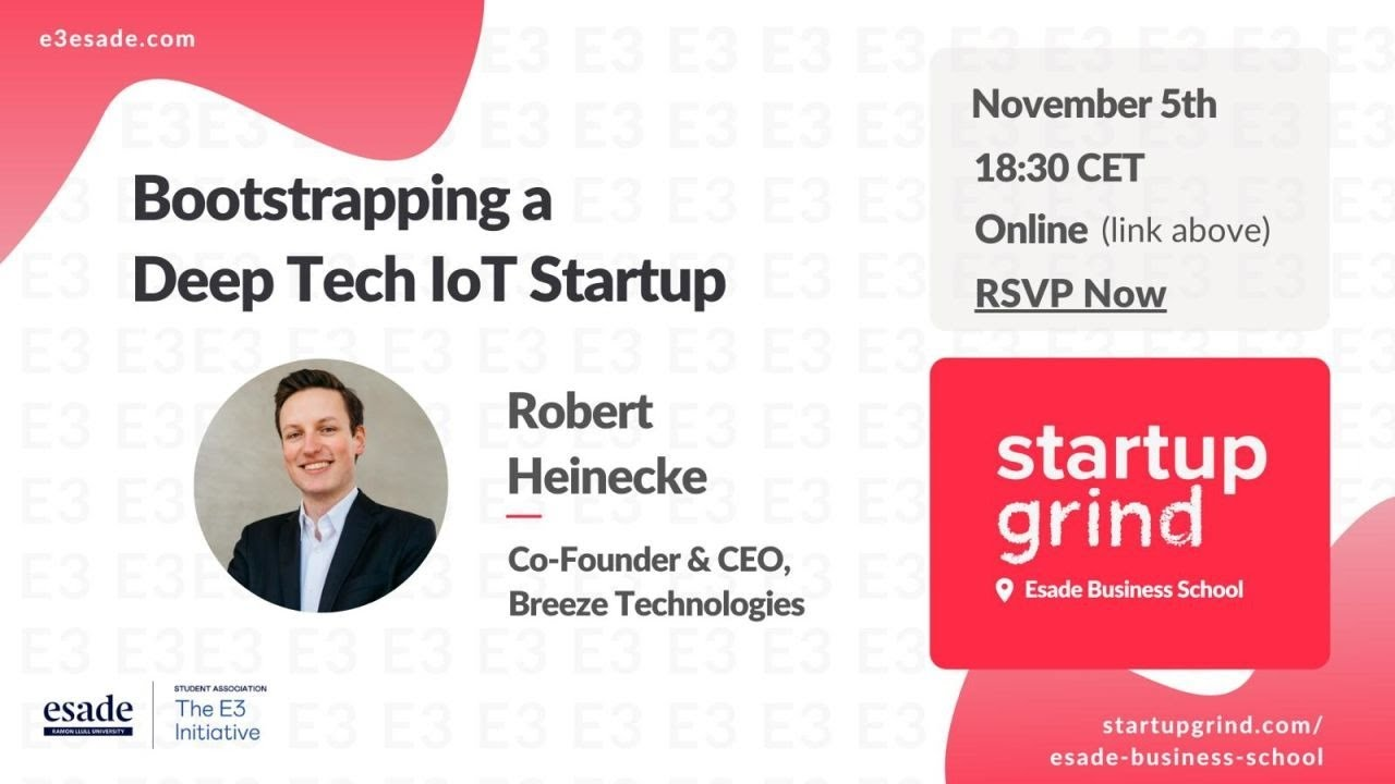 Robert Heinecke on Bootstrapping a Deep Tech IoT Startup