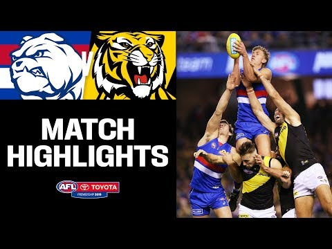 Naughton Chases Carey's Record   Western Bulldogs V Richmond Highlights   Round 7, 2019   AFL