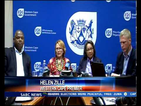 Helen Zille heightened steps toward dealing with Gang violence in the province