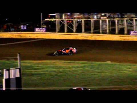 Jason Wheatley wins heat race at Bluegrass Speedway 9/25/10