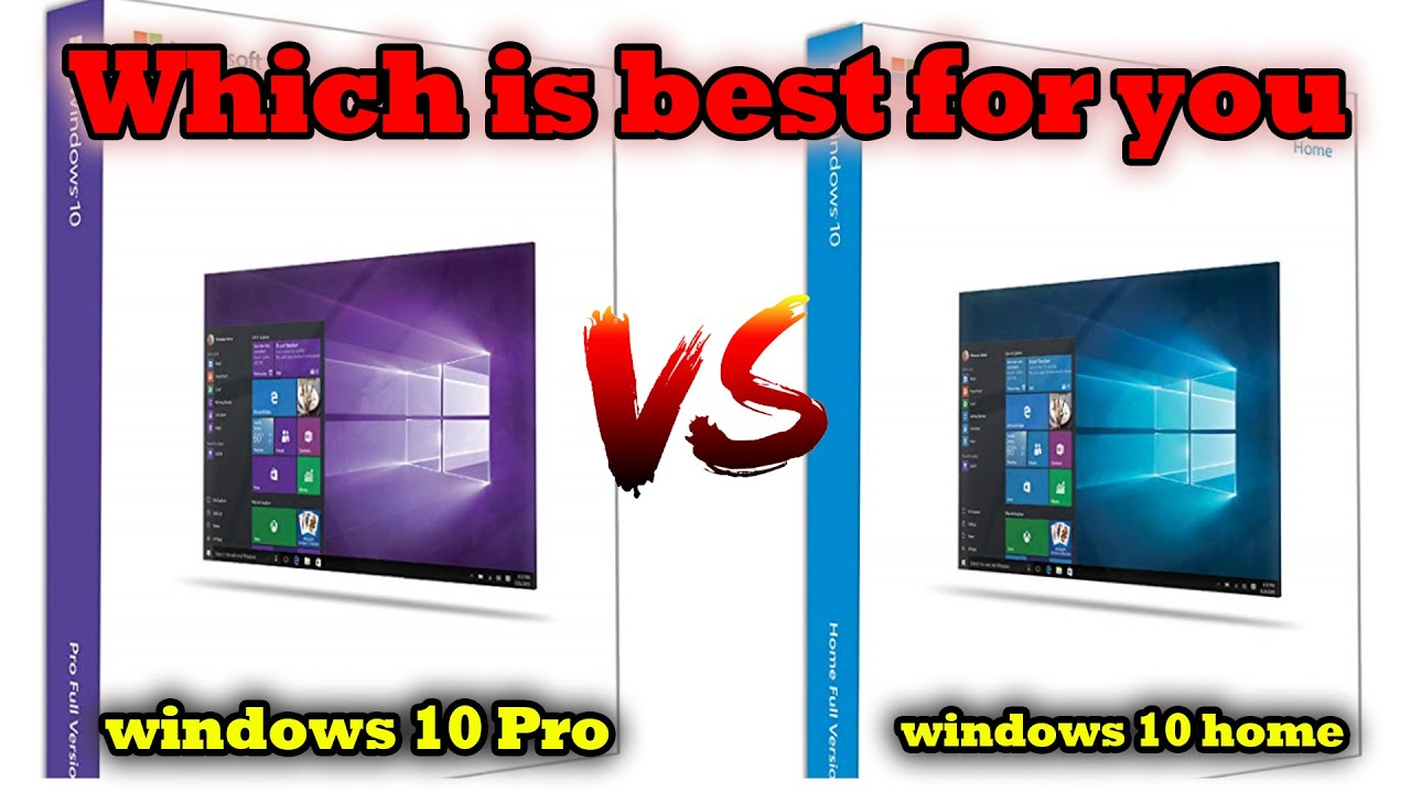 Windows 10 HOME vs Windows 10 PRO   Which one you should prefer   Differences [Hindi]