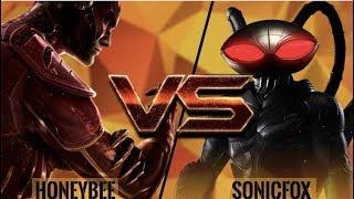 SonicFox's NEW MAIN Black Manta! SonicFox vs HoneyBee