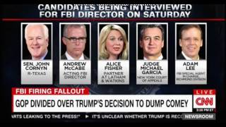 Interviews for new FBI director, could be a woman for the 1st time reaction from Trump Supporters
