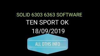 sOLID 6363-6303 NEW USB SOFTWARE UPDATE