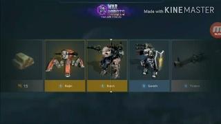 War Robots-Abrindo baú de 1000/Link do test server na descrição