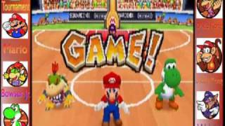 Mario hoops 3 on 3 Mushroom tournament Round 1