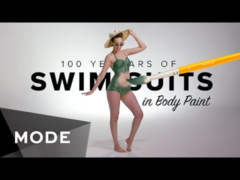 100 Years of Swimwear in Body Paint ★ Glam.com
