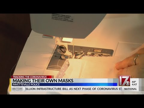 fayetteville-police-making-their-own-covid-19-masks