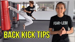 5 TIPS TO IMPROVE YOUR BACK KICKS | Samery Moras Taekwondo