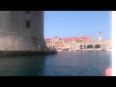 Coming into Dubrovnik by boat