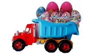 ✿ Большой грузовик с игрушками: Disney Hasbro Marvel Transformers Monster High Maya the Bee