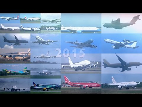 Review 2015 | 50+ Planes in 30 Minutes | Airports of Hamburg