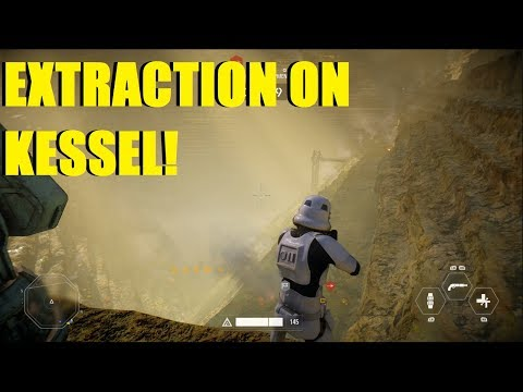 Star Wars Battlefront 2 - New map/mode Extraction on Kessel! | We Barely won! (2 games)