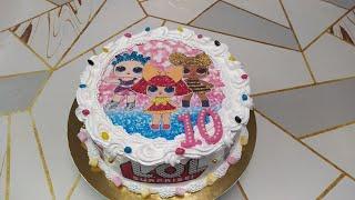 Торт куклы Лол девочке на 10 лет