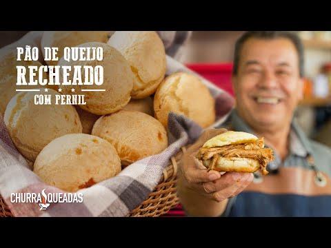 Pão de Queijo Recheado com Pernil | Churrasqueadas