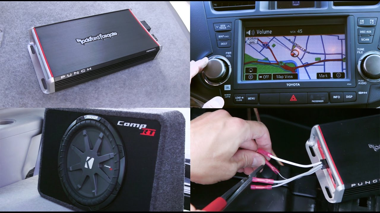 car amplifier and subwoofer installation rockford fosgate and kicker [ 1280 x 720 Pixel ]